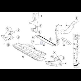 Osłona dolna komory silnika, przednia - 51718265652