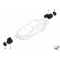 Czujnik PDC czarny BMW E70 E71 F06 F07 F10 F11 F12 F13 F25 - 66209270495