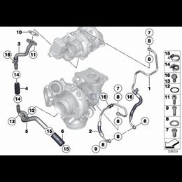 Uszczelka turbosprężarki BMW E34 E36 E38 E39 E38 E46 E60 E61 E65 E70 E81 E83 E90 E87 F01 F07 F10 F20 F30 F36 R55 G11 - 114222460