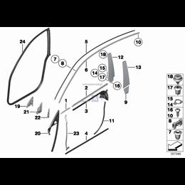 Zaczep BMW E81 E92 F07 F13 F21 F22 F32 F34 F36 F82 F87 - 51767162587