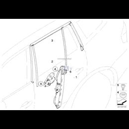 Prowadnica szyby drzwi tylnych prawych - 51353424496