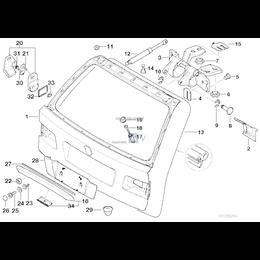 Uszczelka pokrywy bagażnika - 51718199261