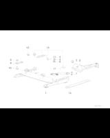Adapter przedłużenia szyny fotela - 52108191181