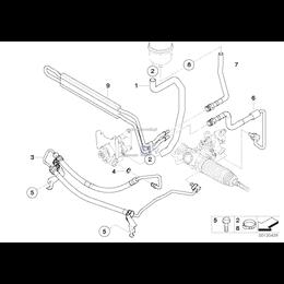 Przewód powrotny układu wspomagania BMW E83 X3 2,0d 2,0i 2,5 3,d 3,0i - 32413400190