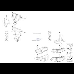 Kanał powietrza hamulca przedni lewy - 51717121569