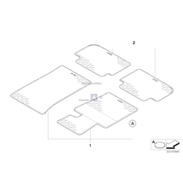 Kpl. dywaników gumowych, tył - 51470422271