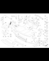 Ekran przedziału silnika przedni - 51757160036