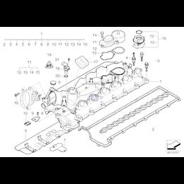 Zaślepka pokrywka głowicy obudowy filtra powietrza BMW E38 E39 E46 E53 E60 E61 E65 E70 E71 X5 X6 E83 X3 E90 E91 - 11122247705 22