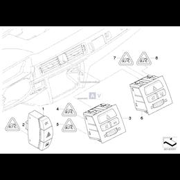 Przełącznik ZV / Światła awaryjne/ DTC - 61316945603