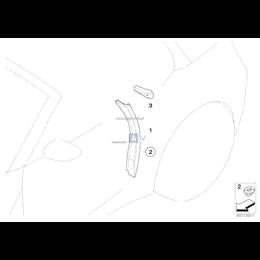 Uszczelka słupka B, górna prawa - 51717115416