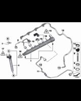 Przewód przelewowy BMW E84 X1 F90N E91N F07 F10 F11 F20 F21 F30 F31 F34 420d 320d 120d 518d 520d - 13537823408