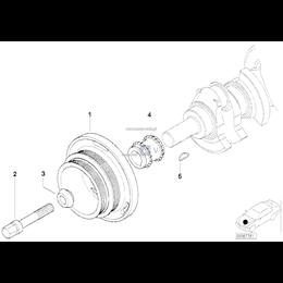 Śruba koła pasowego wału BMW E34 E36 E38 E39 E46 E53 E60 E61 E83 E65 - 11211720633