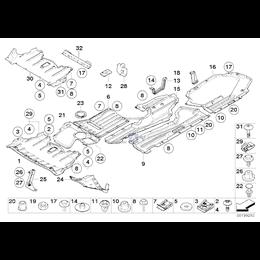 Ekran przedziału silnika przedni - 51757163280
