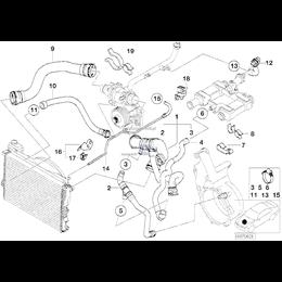 Przewód ukł. chłodzenia BMW E38 740d - 11532249862
