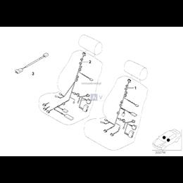 Wiązka przew. siedzenia lewego - 61126943582