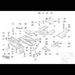 Osłona komory silnika, dolna prawa - 51718195374