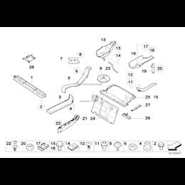 Przewód wentylacji tyłu pojazdu - 51717115696