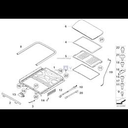 Zespół napędowy dachu przesuwnego - 67616949628