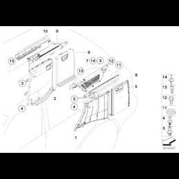 Kołek X3 X5 X6 - Oryginał BMW - 51717002953