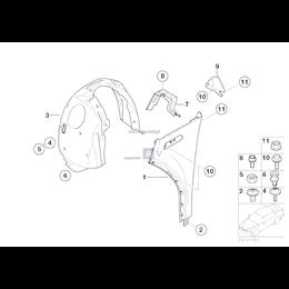 Osłona wnęki koła, przednia prawa - 51711486197