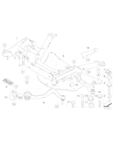 Wahacz przód lewy BMW E65 E66 E63 E64 730 740 745 750 M6 - 31126777937