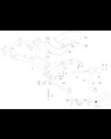 Wahacz przód prawy BMW E38 - Oryginał BMW - 31121141722