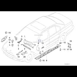 Osłona reflektora przód prawa BMW E38 725tds 730i 730d 728i 740i 740d 735i 750 - 51718160140