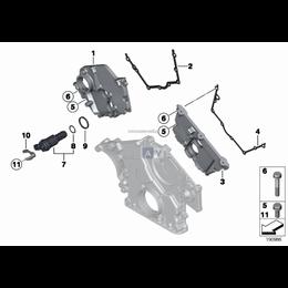 Uszczelka pokrywy rozrządu lewa BMW E53 X5 E60 E63 E65 735 745 750 760 645 650 540 545 550 - 11147506425