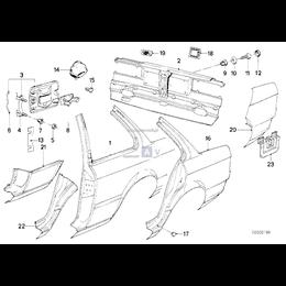 Osłona gumowa ściany bocznej BMW E30 316i 318i 318is 320i 323i 324d 324td 325e 325ix 325i M3 - 51711884358