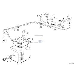 Trójnik zawór spryskiwaczy BMW E30 - 61661374978