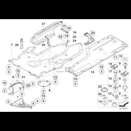 Osłona podwozia, lewa - 51757009725