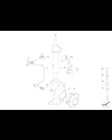 Czujnik ABS DSC przód BMW E87 E81 E90 E91 E92 2,3d 3,0i 3,5d - 34526760424