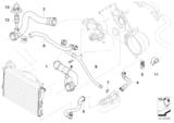 Przewód chłodnicy BMW E38 E39 735i 740i 535i 540i M62 - 11537505228
