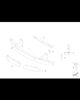 Absorber uderzenia przedni lewy - 51117008827