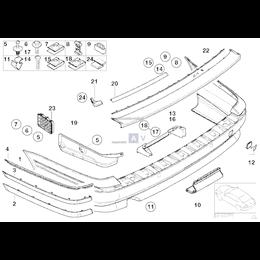 Uszczelka zderzaka tył BMW E39 Touring 520 523 525 528 530 540 - 51718204699