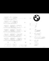 Emblemat klapy tył boczny BMW E36 K14 K15 K26 K30 K46 K47 K50 R13 R22 R28 - 51148164924