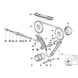 Napinacz łańcucha rozrządu BMW E21 E32 E38 E30 E34 E28 E24 E23 316i 318i 735i 735i 530i 535i 750i 633 635 630 M10 M30 - 11311744