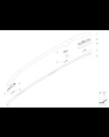 Adapter relingu dachowego - 51138208785