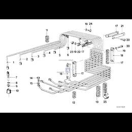 Przewód wtryskowy 2. cylinder - 13531266606
