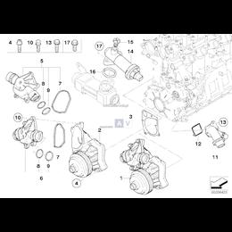 O-Ring uszczelnienie termostatu BMW E38 E39 E46 E60 E53 E63 E65 E70 E87 E90 E83 318d 320d 325d 520d 525d 530d 730d 635d - 115177