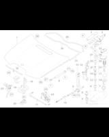 Siłownik pneumatyczny pokrywy silnika BMW E65 E66 730 735 740 745 750 760 - 51238240596