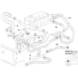Przewód elastyczny układu chłodzenia - 11531743295