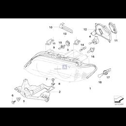Uszcz. reflektora-pokrywy silnika, prawa - 63126940248