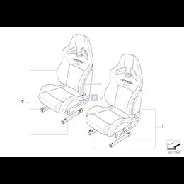 JWC Fotel sport. Alcantara przedni prawy - 52100446775