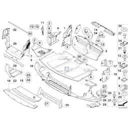 Ekran przedziału silnika przedni - 51717200847