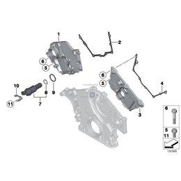 Uszczelka pokrywy rozrządu prawa BMW E53 X5 E60 E63 E65 735 745 750 760 645 650 540 545 550 - 11147506424