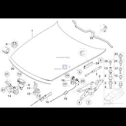 Uszczelka pokrywy silnika, przednia - 51717053532
