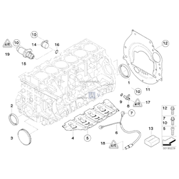 Zaślepka skrzyni korbowej BMW E60 E61 E63 E64 E65 E70 E71 E81 E83 E84 E87 E90 E91 F01 F06 F07 F10 F11 F20 F30 F34 F36 - 11117530