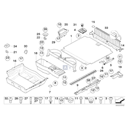 Nakrętka BMW E30 E36 E46 E60 E39 E38 F01 F07 F10 F11 F12 F13 F15 F16 F25 F26 F39 F45 F46 F48 MINI F54 F55 F56 F57 F60 G01 G02 G0