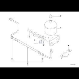 Przewód elastyczny ciśnieniowy lewy - 37131091320